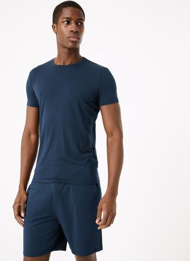 Marks & Spencer Supersoft Supima® Şort Pijama Altı Lacivert